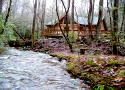 Enjoy the relaxing creek and cozy fireplace