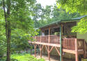Asheville private cabin rental with hot tub