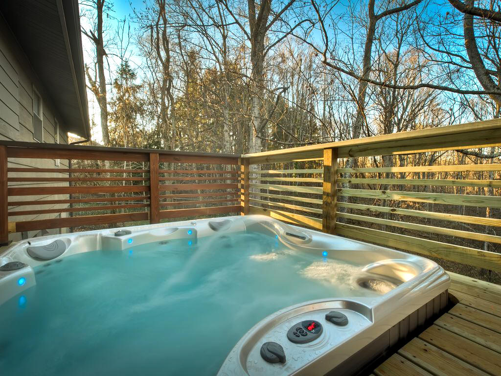 private cottage rental in West Asheville with hot tub and firepit