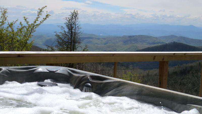 Asheville rental with hot tub and incredible mountain views