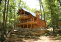 recently built cabin vacation rental near Brevard