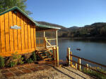 Lakrfront cottage rental near Boone NC with fishing and boating