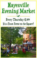 Thursday Evenings Hayesville NC Market in Town Square