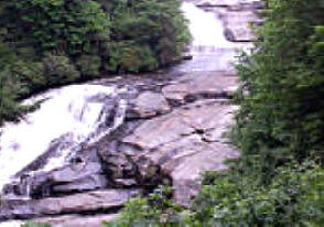 Triple Falls, High Fals and Hooker Fals are located in Dupont State Forest near Brevard NC